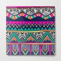 Multicolor tribal background with doodle elements by meow_meow