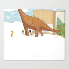 Book Dinossaur Canvas Print
