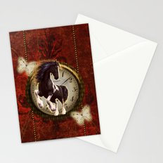 Wonderful horse on a clock Stationery Cards