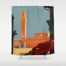 Tuscany   Siena Italy   Vintage Travel Shower Curtain