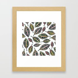 Petra Leaves Framed Art Print