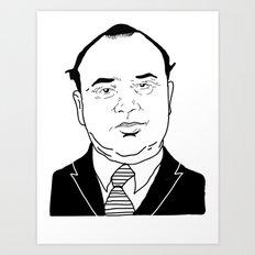 Al 'Scarface' Capone Art Print