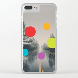 Road, Rain, Forest, Presences Clear iPhone Case