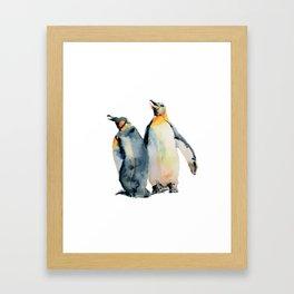 King Penguins Framed Art Print