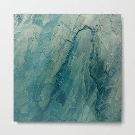 Aqua Blue Marble Metal Print