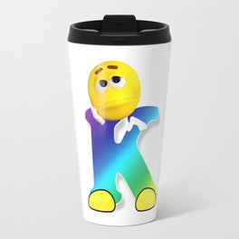 Letter K Alphabet Smiley Monogram Face Emoji Shirt for Men Women Kids Travel Mug