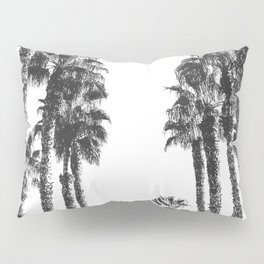 Palm Tree Days {2 of 2} Tropical Black and White Cali Art Print Pillow Sham
