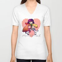 powerpuff girls V-neck T-shirts featuring PowerPuff  by Mickey Spectrum