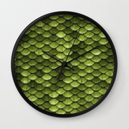Mermaid Scales | Green with Envy Wall Clock