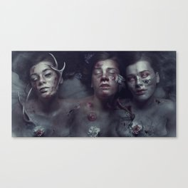 War Pestilence Death Canvas Print