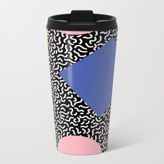 Memphis Pattern 2 Metal Travel Mug