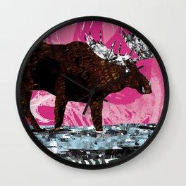 Chocolate Moose on Strawberry Wall Clock