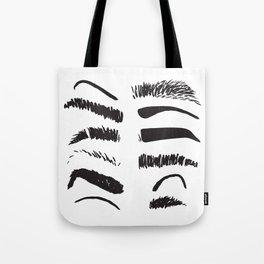 Sketchy Eyebrows Tote Bag