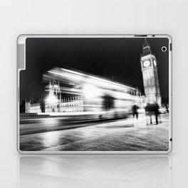 Bus passing Westminster B&W Laptop & iPad Skin