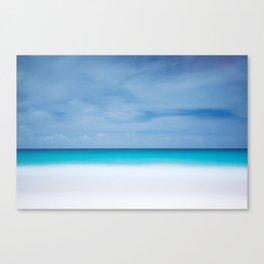 Tropical paradise beach turquoise sea ocean nature travel hipster Caribbean Fiji horizon photograph Canvas Print