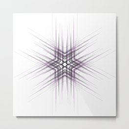 Purple Affiche Scandinave design, modern minimalist art Metal Print