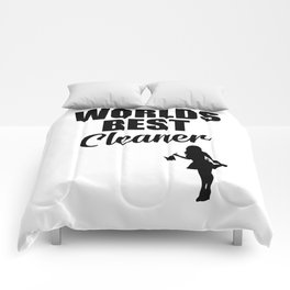 Worlds best cleaner funny quote Comforters
