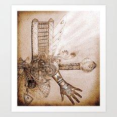 THE MUSIC MACHINE Art Print