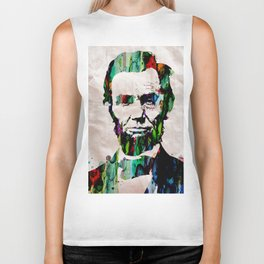 Abraham Lincoln 2017 Watercolor President Art Painting Pop ART Biker Tank