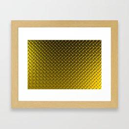 Dirty checkered gold plate Framed Art Print