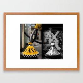 New York vs Berlin Framed Art Print