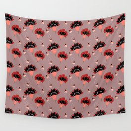 Coral Vintage Wall Tapestry