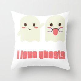 I'm Dead Serious Ghost Lover  Throw Pillow