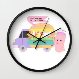 Fries with that shake Wall Clock