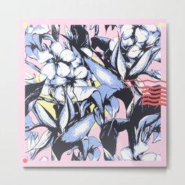 Pattern Exotic Flowers Metal Print