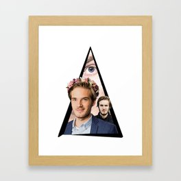 Youtriangle ∆ PewDiePie Framed Art Print