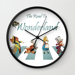 The Road To Wonderland Wall Clock