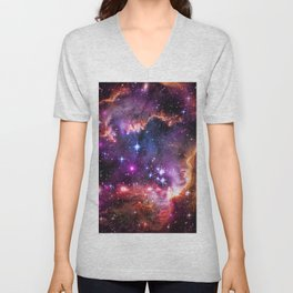 Small Magellanic Cloud's Starry Wingtip Unisex V-Neck