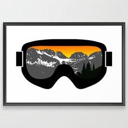 Sunset Goggles 2 | Goggle Designs | DopeyArt Framed Art Print