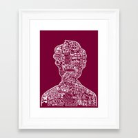 anchorman Framed Art Prints featuring Anchorman by Pixie Tish Brayman