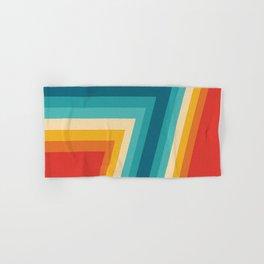 Colorful Retro Stripes  - 70s, 80s Abstract Design Hand & Bath Towel