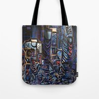 las vegas Tote Bags featuring Vegas by Taylor deVille