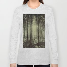 Victor Olgyay - Sunset - 1910 Sunrise Through Tree Forest Silhouette Long Sleeve T-shirt