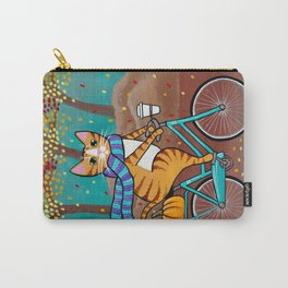 Autumn Fat Cat Bicycle Ride Carry-All Pouch