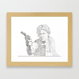 Pointalism Han  Framed Art Print