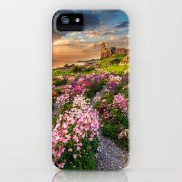 Scottish Castle ruin at Sunset iPhone Case