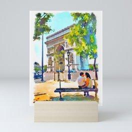 The Arc de Triomphe Paris Mini Art Print