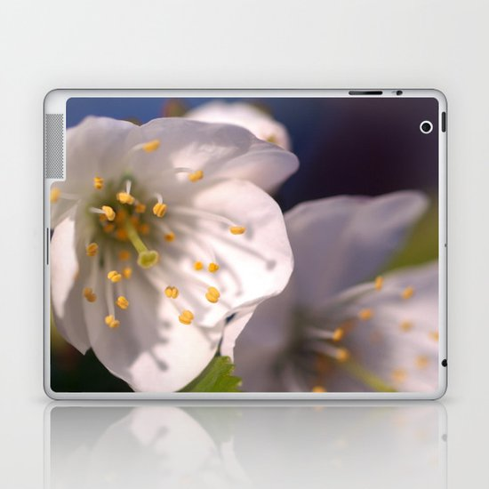 White Blossom Laptop & iPad Skin