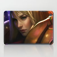 samus iPad Cases featuring Samus by KlsteeleArt