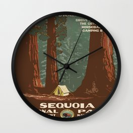 Vintage poster - Sequoia National ParkX Wall Clock