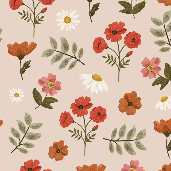 Among the Wildflowers Pattern Leggings