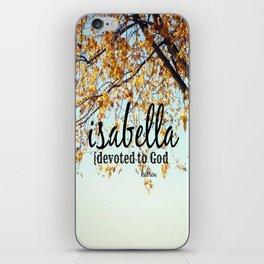 Isabella iPhone Skin