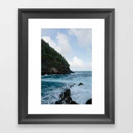 Cliffside Ocean View Framed Art Print