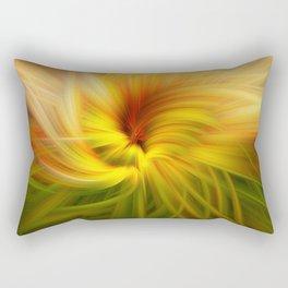 Sunflowers Twirled Rectangular Pillow