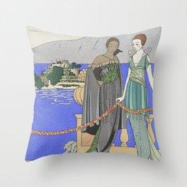 robes du soie Throw Pillow