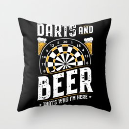 Darts And Beer - Dart Dartboard Throw Pillow